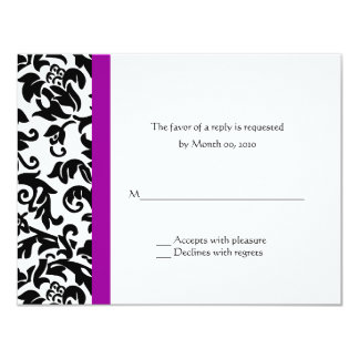 Choose Your Own Color Wedding reply cards