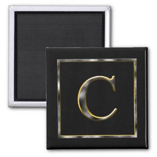 Choose Your Own Diamond Cut Metal Initial Magnet