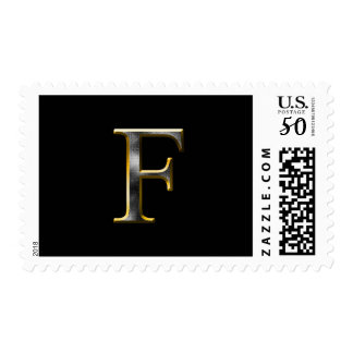 Choose Your Own Diamond Cut Metal Initial Postage