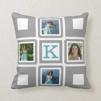 Choose Your Own Photos and Colors Throw Pillow