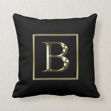 Professional Business Choose Your Own Shiny Gold Monogram Pillow