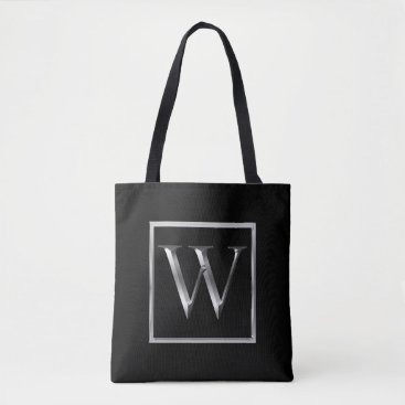 Professional Business Choose Your Own Shiny Silver Monogram Bag