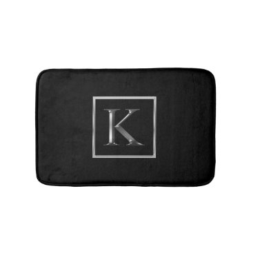 Professional Business Choose Your Own Shiny Silver Monogram Bathmat