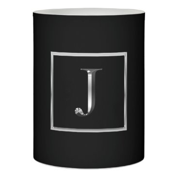 Professional Business Choose Your Own Shiny Silver Monogram Candle