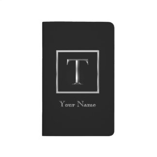 Choose Your Own Shiny Silver Monogram Journal