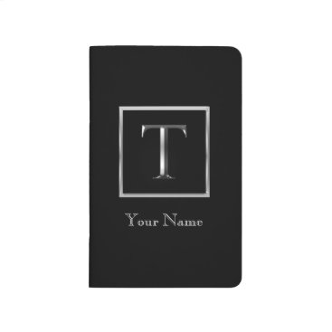 Professional Business Choose Your Own Shiny Silver Monogram Journal