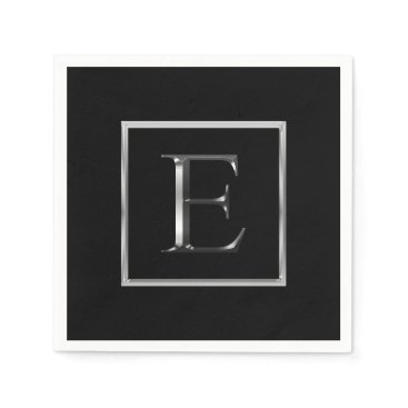 Choose Your Own Shiny Silver Monogram Napkin