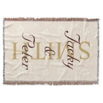 Choose your own text, image & background color throw blanket