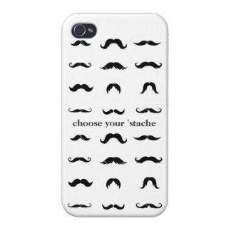 Choose your 'stache case for iPhone 4