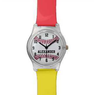 Choose Your Team Colors, Personalized Baseball Watches
