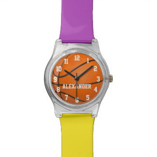 Choose Your Team Colors, Personalized Basketball Watch