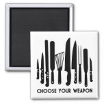 Choose Your Weapon 2 Inch Square Magnet