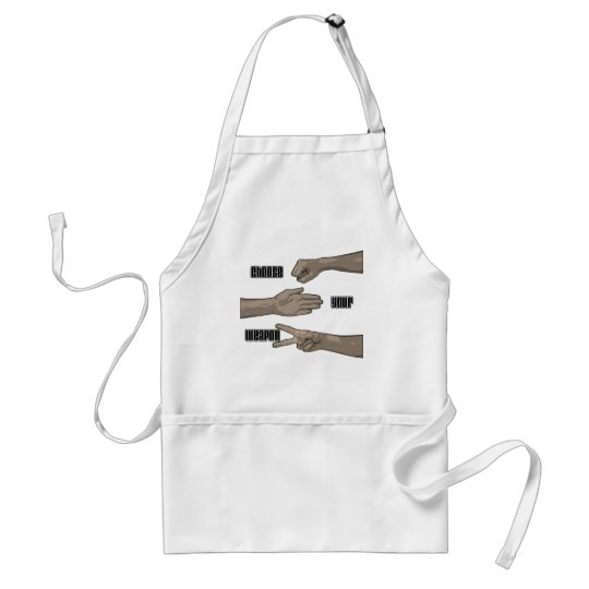 choose your weapon adult apron