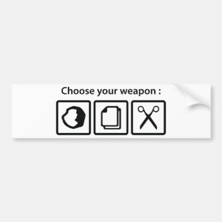 Choose Your Weapon Bumper Sticker