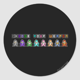 Choose Your Weapon Classic Round Sticker