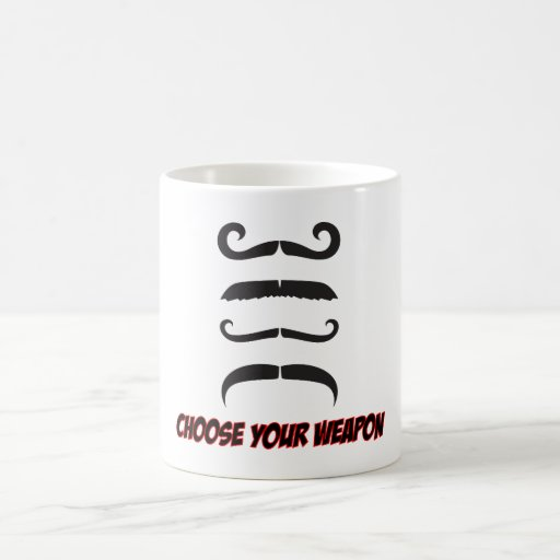 Choose Your Weapon Classic White Coffee Mug