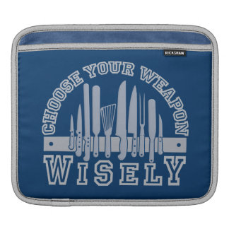 Choose Your Weapon custom laptop / iPad sleeve