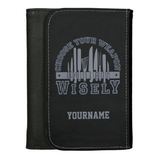 Choose Your Weapon custom wallets