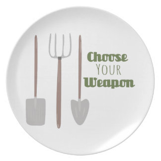 Choose Your Weapon Dinner Plates