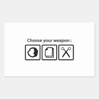 Choose Your Weapon Rectangular Sticker