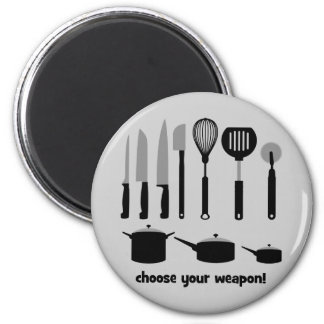 choose your weapon refrigerator magnets