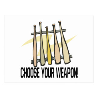 Choose Your Weopon Postcard