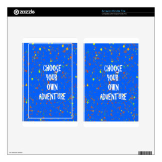 Choose yr own adventure - Wisdom Script Typography Kindle Fire Decals