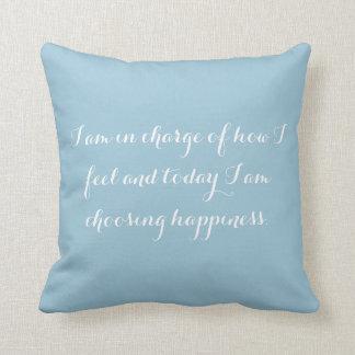 Choosing Happiness Throw Pillow