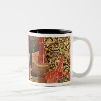Choosing the Red and White Roses in Temple Two-Tone Coffee Mug