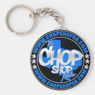 CHOP SHOP BASIC ROUND BUTTON KEYCHAIN