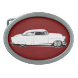 Chop Top Chevy Black, White and Red Graphic Belt Buckles