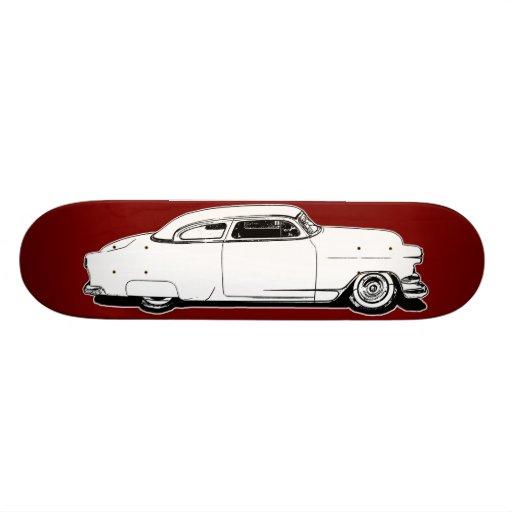 Chop Top Chevy Black, White, Red Graphic Deck Custom Skateboard