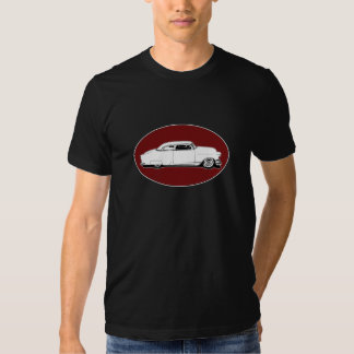Chop Top Chevy Black, White, Red Oval Graphic T-shirt
