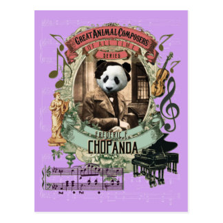 Chopanda Funny Panda Great Animal Composer Chopin Postcard