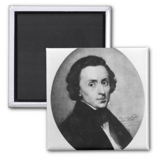 Chopin, 1858 2 inch square magnet