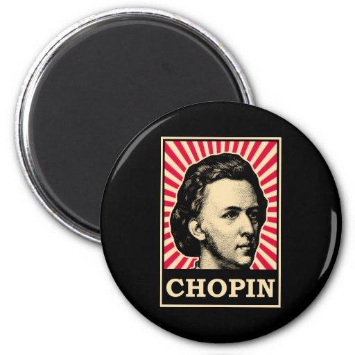 Chopin 2 Inch Round Magnet