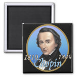 Chopin 2 Inch Square Magnet