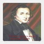 Chopin cómo jugar tarjetas y camisetas de regalos pegatina cuadrada