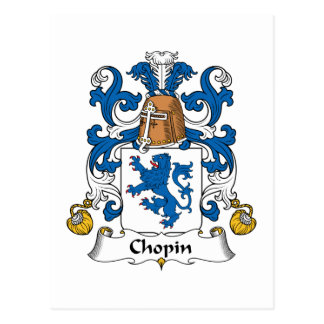Chopin Family Crest Postcard
