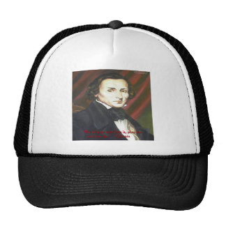 Chopin How To Play Quote Gifts Cards & Tees Trucker Hat