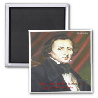 Chopin How To Play Quote Gifts Cards & Tees Magnet