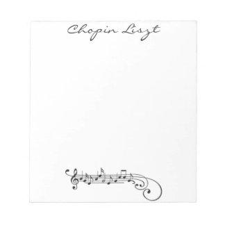 Chopin Liszt Memo Note Pad
