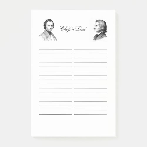 Chopin Liszt shopping list Post_it Notes