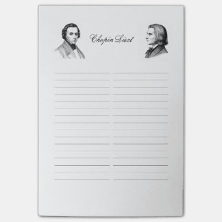 Chopin Liszt shopping list Post-it® Notes