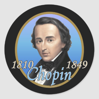 Chopin Pegatinas Redondas