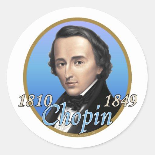 Chopin Pegatina Redonda