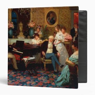 Chopin Playing the Piano 3 Ring Binder
