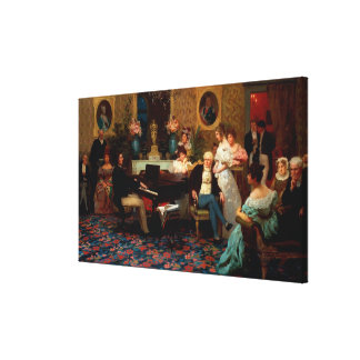 Chopin Playing the Piano Canvas Print