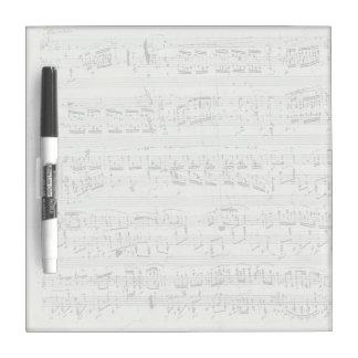 Chopin Polonaise Piano Music Manuscript Dry-Erase Whiteboard