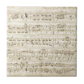 Chopin Sheet Music Ceramic Tile